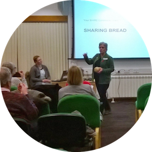 Founder of Planet Leicester Bakers, Michelle Stratford, pitching for funding at Leicestershire County Hall.