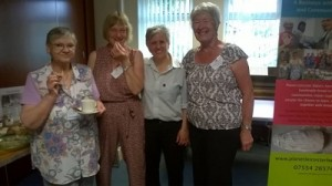 With Margaret, Shirley and Pam, Sharing Bread at Horeston Grange.