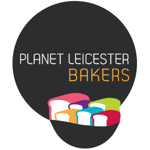 Planet Leicester Bakers logo of multi-coloured loaves