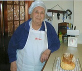Karen's mum Betty remembered the Bread Strikes and baking a brick. Karen learnt to bake through the Sharing Bread project in 2015 and shared her skills with Betty, who was delighted with the success!