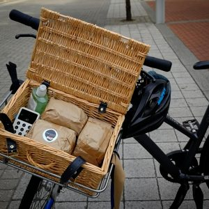 The Bread Bike with bread on board