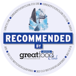 Recommended by the Great Food Club badge